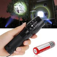 3000LM Zoomable  X-XML T6 LED 26650 Flashlight Focus Torch + 18650 Battery GA