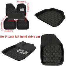 Auto Floor Mat Cover Front&Rear Carpet for 5 Seat Left Hand Drive Car Waterproof