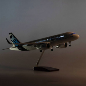 """Classic Plane Model Airbus A320 NEO 1:150 Aircraft Collectible18"""" With Lights"""