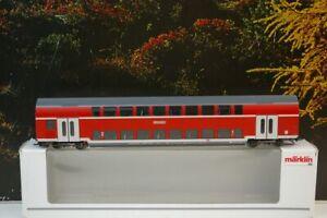 """Märklin H0 43584 Doppelstockwagen 1./2.Klasse der DB mit KKK """"RE Kassel HBF"""" E1"""