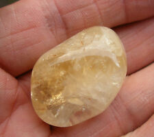 1 - XL CITRINE CRYSTAL POLISHED STONE TUMBLESTONE 28mm - 30mm GIFT BAG * ID CARD