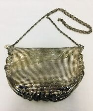 Vintage 1970's Silver Mesh Disco Bag With Long Chain Handle. Mint.