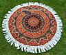 New Indian Lotus Mandala Round Blanket Rug Tapestry Tassel Beach Throw Towl Boho