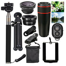 Smartphone Camera Lens Kit 10 In 1 iPhone Android Optical Zoom With Stand Clip