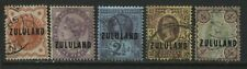 Zululand QV 1888-91 overprinted Jubilees various values to 4d used