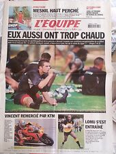 L'Equipe Journal 7/8/2003; Mesnil/ 1968 le 1er grand Chelem/ Lomu/ KTM Vincent