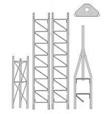 ROHN 25g Series 30' Tower Kit Hb25bg House Bracket