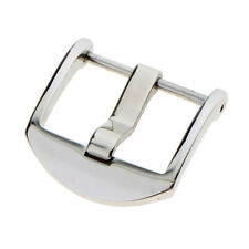 20mm 22mm Silver Stainless Steel Tang Pin Buckle Clasp for Watch Strap Band