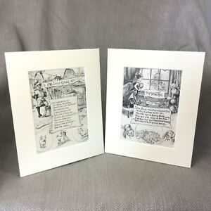 1899 Antique Victorian Prints Children's Book Poems Art Poetry The Apple Tree