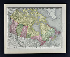 1911 McNally Map - British North America - Canada Ontario Quebec Columbia Yukon