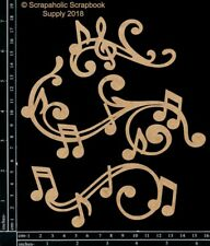 Scrapaholics Chipboard - Music Note Flourishes
