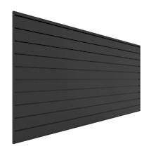 Pvc Slatwall 8 Ft X 4 Ft Charcoal Wall Panel For Tool Storage Garage Slat Wall