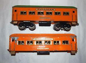 Dorfan Prewar Wide or Standard Gauge Passenger Cars! Orange! Restore or Parts!PA