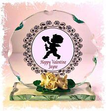 Cherub Cut Glass Plaque Gift,Valentine Girlfriend Boyfriend Limited Edition #1