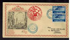 1946 Venice Italy Perfin Cover Local Use Philatelic Exhibition