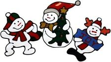 Autocollant gel bonhomme de neige décoration noël sapin fêtes fenêtre x 3
