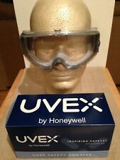 New listing Uvex S3960C Stealth Gray Frame Safety Goggles with Clear Lens New
