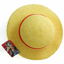 Luffy Straw Hat Yellow Red Ribbon Cosplay Adult Cap Costume Accessory Fashion