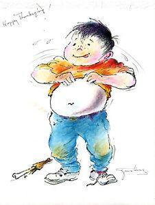 Tyrus Wong original color drawing signed