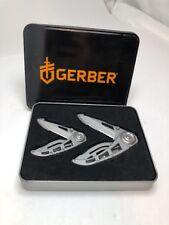 Gerber Ripstop I & II Knife Set Gift Set Tin Fathers Day