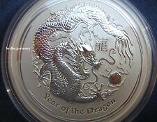 5 oz Lunar Dragon Argent 2012 Pièce LUNAR DRAGON silver coin