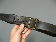 Ceinturon d'officier WWII cuir noir.