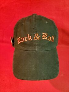 Rock & Roll embroidered black cap Adjstable Strpback heavy metal hat band button