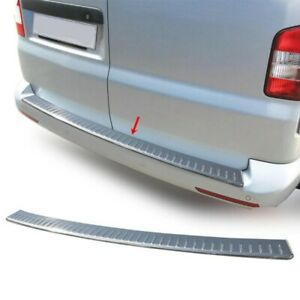 For VW Transporter T5 03-15 Rear Bumper Protector Guard Sill Chrome S.Steel