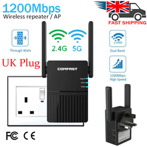 1200Mbps Dual-Band Wifi Extender Repeater Wireless Router Range Signal Booster