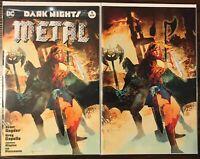 DARK NIGHTS METAL 1 FORBIDDEN PLANET SIENKIEWICZ EXCLUSIVE SET!!!