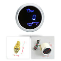 "2"" 52mm BLUE DIGITAL WATER TEMP TEMPERATURE CELSIUS GAUGE FOR CAR AU Stock"