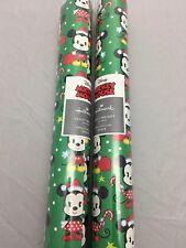 Hallmark Itty Bittys Disney Mickey Minnie Gift Wrapping Paper 2.5'x 4.6 Yards