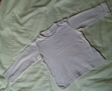BABY GIRLS PINK T SHIRT TOP 12-18 MONTHS HARDLY WORN