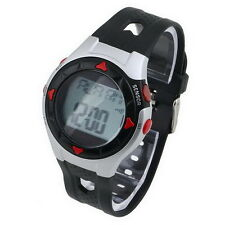Waterproof Pulse Heart Monitor Stop Watch Calories Counter Sports Fitness AE