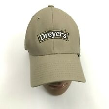 DREYERS ICE CREAM FlexFit Baseball Cap Size L - XL Stretch Fit Snacking Hat Tan