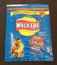 STAR WARS Cheese & Onion - WALKERS Empty Crisp Packet 1999 (Obi-wan)