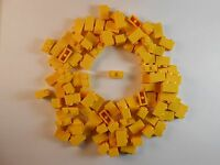 LEGO 1X2 BRICKS. LOT OF 50. YELLOW. BRAND NEW! FREE SHIPPING!