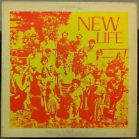 New Life - New Life LP VG WG 7201 Private MI Christian Folk Rock 1972 Record 1st