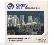 Herpa 500128 Orbis Flying Eye Hospital Douglas DC-10 1:500 Scale RETIRED1999