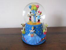 "Hallmark Disney Walt's 100th Mickey Cinderella Tinkerbell Musical Snowglobe 6.5"""