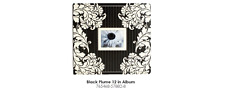 12x12 inch Black Plume Scrapbook Memory Album by Colorbok Rounded Corners