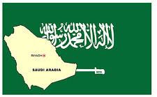 Arabia Saudí Mapa & Bandera - RECUERDO Enorme Imán de NEVERA - NUEVO - Regalo