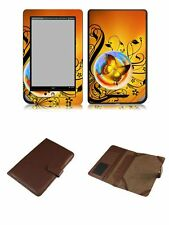 Happybird Nook Tablet Nook Color Case Cover with skin combo-brown set2(023)