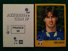 AZZURRI CON IP 1998 98 FRANCE 98 DINO BAGGIO Figurina Sticker Merlin New