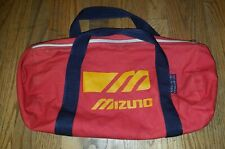 "Vintage Red MIZUNO 18"" Duffle Bag Gym Workout Yoga Travel Carry Baseball Sports"