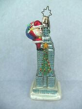 Empire State Building with Santa Glass Christmas Ornament! 5 3/4