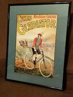 Cycles Gladiator 46 Rue Lafayette Paris Framed Advertisement Print 1889