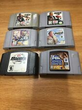 Lot of 6 Nintendo 64 N64 Games Sports Madden NBA Free Shipping