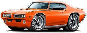 1969 Pontiac Lemans GTO Ram Decal Sticker Wall Graphic Trailer Cornhole Tool Box