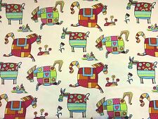 STOF Hobby Horse POULAIN Multi BAMBINI PONY stampa cotone tessuto di facciata continua